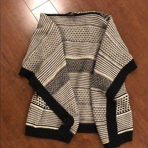 Talbots knit shawl sweater